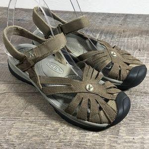 Keen sandals womens sz 8 brown suede